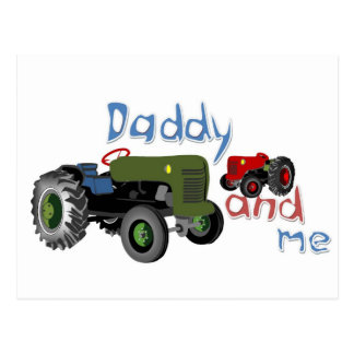 Daddy and Me Tractors Post Card