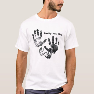 Daddy and Son Handprint Shirt