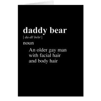 DADDY BEAR DEFINITION CARD