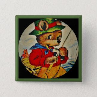 Daddy Bear Fisherman Button