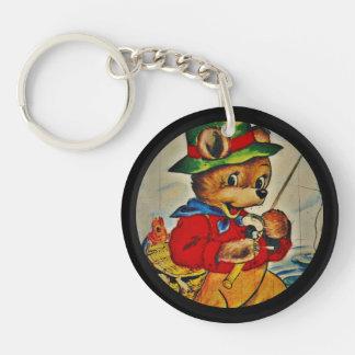 Daddy Bear Fisherman Keychain