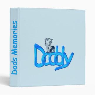 Daddy Blue 3 Ring Binder