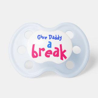 Daddy Break pacifier