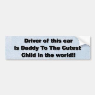 Daddy Bumper Sticker (blue) Car Bumper Sticker