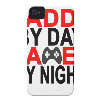 Daddy by Day Gamer by Night T Shirt '.png iPhone 4 Case-Mate Case