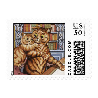 Daddy Cat and kitten Postage
