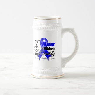 Daddy - Colon Cancer Ribbon 18 Oz Beer Stein