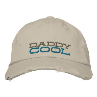 daddy cool embroidered chino distressed cap