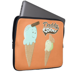 Daddy Cool Ice Cream Cones Laptop Sleeve