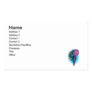 Daddy Daughter Aliens Double-Sided Standard Business Cards (Pack Of 100)