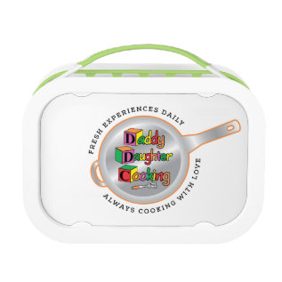 Daddy Daughter Cooking Green Lunchbox at Zazzle