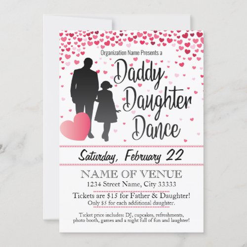 Daddy Daughter Dance Invitation