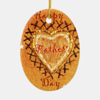 Daddy Dearest ! Double-Sided Oval Ceramic Christmas Ornament