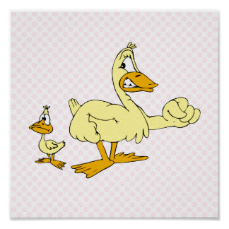 Daddy & Diddy Duck Print