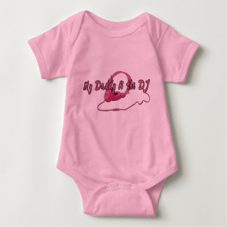 Daddy DJ for Girls Baby Bodysuit