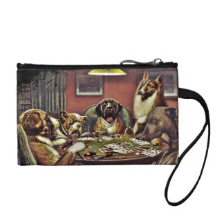 Daddy Dogs Playing Cards Change Purse