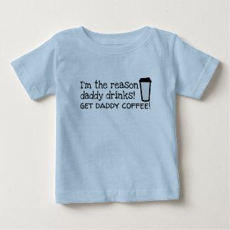daddy drinks coffee baby T-Shirt