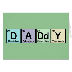 Greeting Card with Daddy Elements design