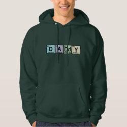 Men's Basic Hooded Sweatshirt with Daddy Elements design