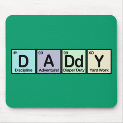 Mousepad with Daddy Elements design