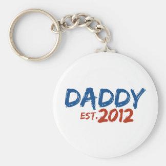 Daddy Est 2012 Basic Round Button Keychain