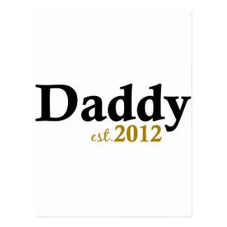 Daddy est 2012 postcard