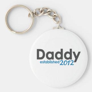 Daddy Established 2012 Basic Round Button Keychain