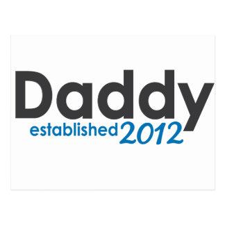 daddy established 2012 postcard