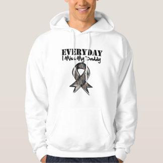 Daddy - Everyday I Miss My Hero Military Hoodie