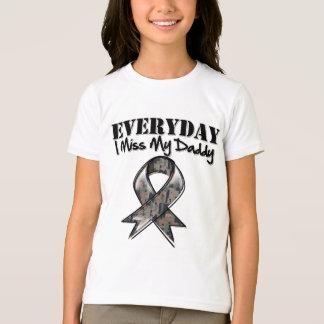 Daddy - Everyday I Miss My Hero Military T-Shirt