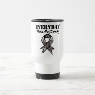 Daddy - Everyday I Miss My Hero Military Travel Mug