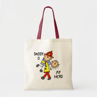 Daddy Firefighter Children's Gift Budget Tote Bag