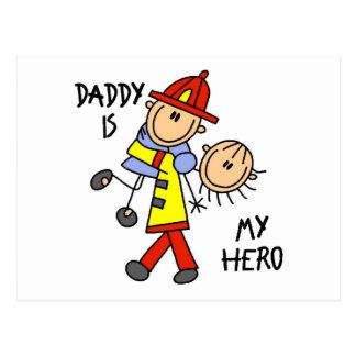 Daddy Firefighter Children's Gift Postcard