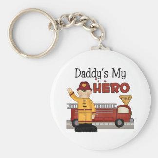 Daddy Firefighter Children's Gifts Basic Round Button Keychain