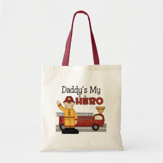 Daddy Firefighter Children's Gifts Budget Tote Bag