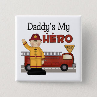 Daddy Firefighter Children's Gifts Button