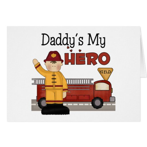 Daddy Firefighter Children's Gifts Card