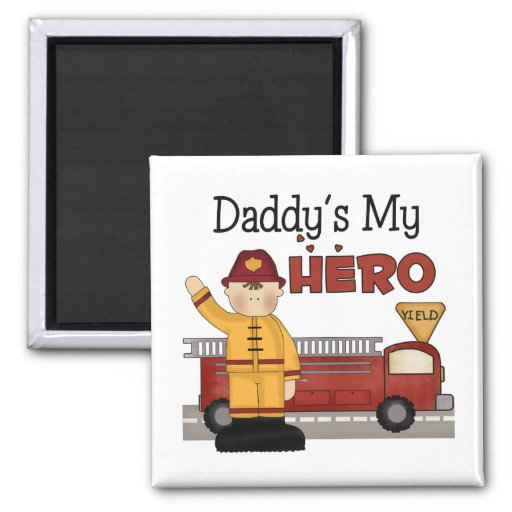 Daddy Firefighter Children's Gifts Magnet