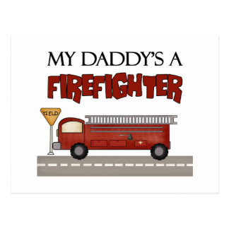 Daddy Firefighter Children's Gifts Postcard