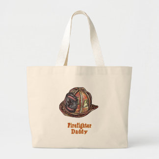 Daddy Firefighter jumbo tote bag