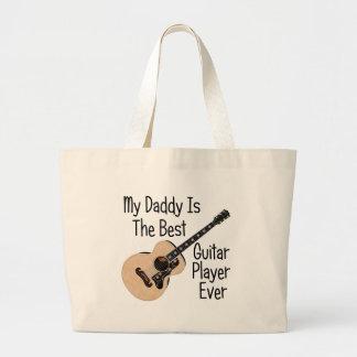 Daddy Guitar Large Tote Bag