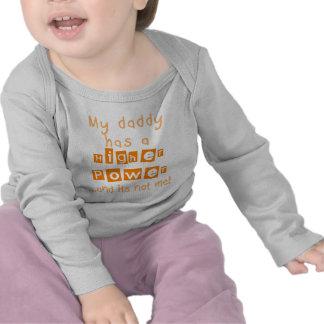Daddy Has A Higher Power Infant LS Shirt - Orange