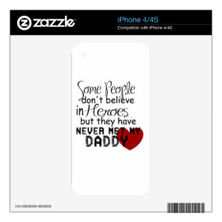 Daddy Hero iPhone 4S Decals
