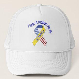 Daddy - I Wear A Ribbon Military Patriotic Trucker Hat
