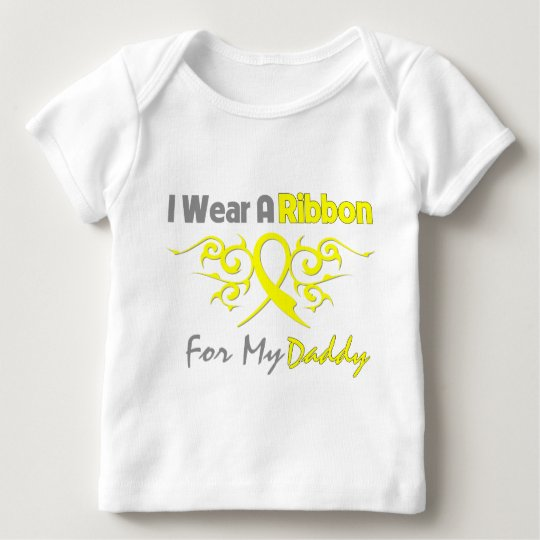 Daddy - I Wear A Yellow Ribbon Military Support Baby T-Shirt