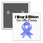 Daddy - I Wear Periwinkle Ribbon 2 Inch Square Button