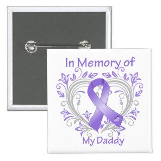 Daddy - In Memory Heart Hodgkins Disease Button