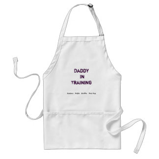 Daddy In Training Baby supply apron