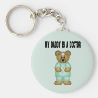 Daddy is a Doctor Bear Key Chains