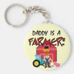 Daddy is a Farmer Tshirts and Gifts Key Chains